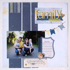 The Scrap Shoppe: Scrapbook layout using Shape 'N Tape (sheets of washi tape!)