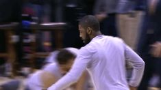 dancing basketball nba cleveland cavaliers cavs kyrie irving kyrie jump on it Riding a horse #gif from #giphy