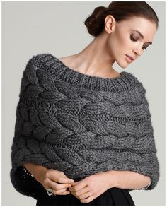 knit shrug. Love this! I know what I am going to ask Dominc to make me for Christmas! :)