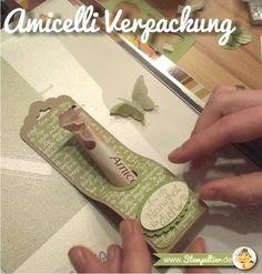 stampin up gewellter anhänger stanze amicelli verpackung kleinigkeit stempeltier stempelparty