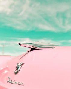 Retro pink car