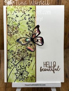 Beautiful Hello Beautiful ⋆ Tina Wardell~Stampin' Up! Independent Demonstrator - Beauty Abounds - Butterfly Gala - Dandelion WishesHello Beautiful ⋆ Tina Wardell~Stampin' Up! Independent Demonstrator - Beauty Abounds - Butterfly Gala - Dandelion Wishes Butterfly Cards, Flower Cards, Dandelion Wish, Stampin Up Catalog, Hello Beautiful, Beautiful Hearts, Stamping Up Cards, Mothers Day Cards, Cool Cards