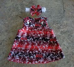 The Walking Dead Zombie  Baby Dress & Headband 0-3 mo. Fits Reborns Dolls too #Handmade #handmade