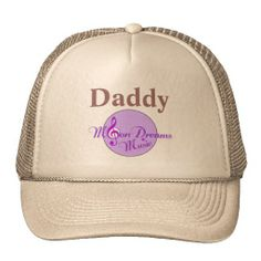 """""""Daddy"""" MoonDreams Music Trucker Hat by MoonDreams Music - Great Father's Day gift! #truckerhat #daddy #FathersDay #cool #moondreamsmusic #dad #father"""