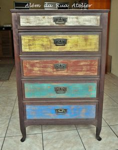 Rainbow drawers