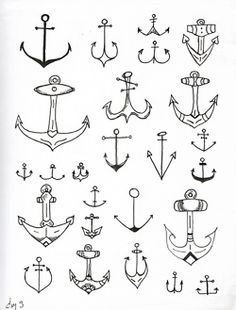 there are a bazillion different ways to draw an anchor.
