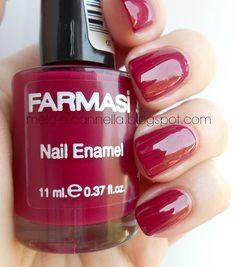 mela-e-cannella: Farmasi Nail Enamel - 97 Nail Polish Brands, Fabulous Nails, Short Nails, Manicure, Nail Designs, Enamel, Make Up, Nail Art, Magic