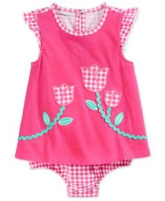 First Impressions Baby Girls' Gingham Tulip Sunsuit, Only at Macy's