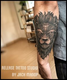 Lion  Thai tattoo  Release tattoo studio  Jack manop  Maori tattoo
