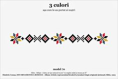 Find Beading Inspiration With Cross Stitch Patterns! French Knot Embroidery, Folk Embroidery, Beading Patterns, Knitting Patterns, Mexican Pattern, Egg Decorating, Romania, Cross Stitch Patterns, Album