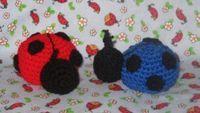 Newest patterns! - Kristieskids - Ladybug, Turtle and Frog Rattles - free crochet patterns
