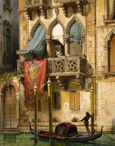 Friedrich Von Nerly (1807-1878) ~ Palais Contarini Á Venise.