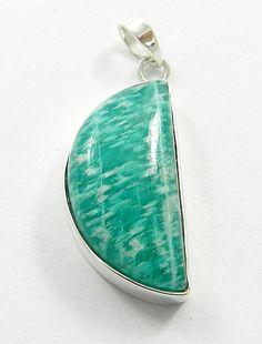 Silver 925 Natural Amazonite Fancy Gemstone Elegant Pendant, Fashion Jewellery #Handmade #Pendant