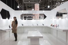 """Design Trendsetter 2015"" contest: Chau Har Lee booth display, S/S 2016 collection #chauharlee #shoes"