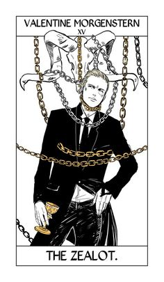 From Cassandra Jean ...  tarot card, valentine morgenstern, the mortal instruments