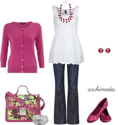 """""""Pretty in Pink"""" by archimedes16 on Polyvore"""