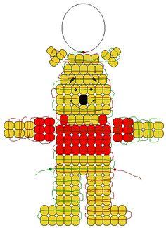 Pony Bead Patterns | ... lanyard hook or keyring 109 goldenrod pony beads 35 red pony beads 1