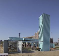 Wijn of Water - Shipping Container Restaurant Rotterdam