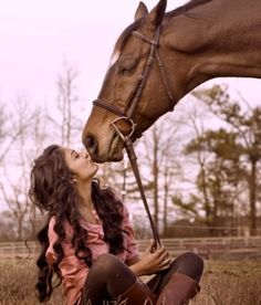 sometimes you just need to stop and kiss your horse