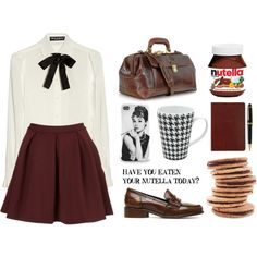 """""""Have you eaten your Nutella today?"""" by hanye on Polyvore (love the vintage outfit)"""