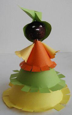 Fabriquer une poupée africaine en papier - Tête à modeler