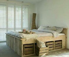 Pallet captains bed with storage!