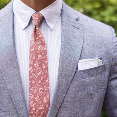 """Matt Graber on Instagram: """"Floral and Chambray are BFFs. Chambray Blazer: @bananarepublic Oxford: @jcrew Tie: @qpcollections Pocket Square: @getdeclan"""""""