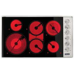 Viking Professional 5 Series Electric Radiant Cooktop - Stainless Steel And Black - : BBQ Guys Bbq Guys, Element Lighting, Metals Die Cast, Viking Range, Electric Cooktop, Childproofing, Glass Ceramic, From The Ground Up, Edge Design