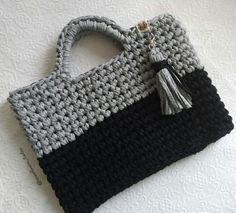 My Bags, Straw Bag, 35, Crochet, Fashion, Going Out, Crochet Purses, Black, Olive Tree