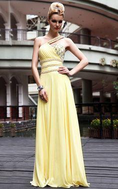 Chiffon ärmellos stilvolles sittsames Elegantes Abendkleid mit Drapierung