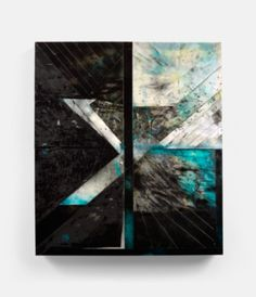 Mask (2012) 42 x 48 in., Acrylic, collage, shattered mirror, epoxy, Plexiglas, spray enamel, wood