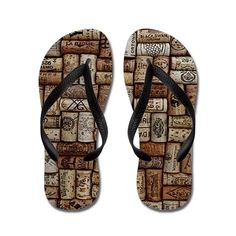 #Wine cork flip flops, a gift that every wine lover will enjoy.