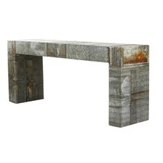 Recycled Metal Console Table