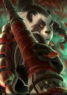 Video Game Art: Pandaren Monk - 2D Digital, Fantasy, VideogamesCoolvibe – Digital Art