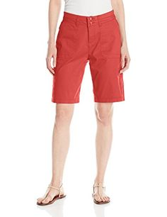Lee Women's Relaxed Fit Avey Knit Waist Cargo Bermuda Short >>> You can find more details by visiting the image link.