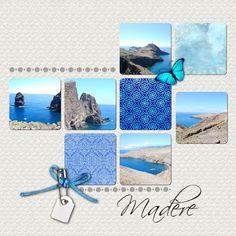 Madere   #Scrap #Blue
