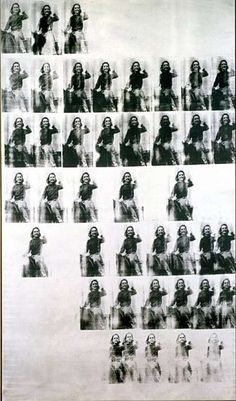 """'National Velvet"""" (1963) silkscreen ink and synthetic polymer on canvas by Andy Warhol."""