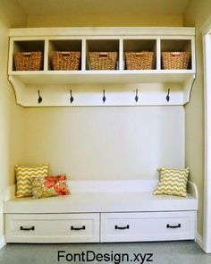 Under Bench Trundle Drawers - Mudroom Ana White