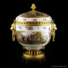 A Large Gilt-Bronze Mounted Porcelain Pot-pourri Vase and Cover, Attributed to Samson & Cie - #adrianalan