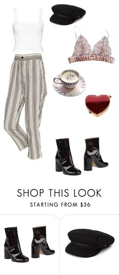 """""""Untitled #710"""" by wild-mink ❤ liked on Polyvore featuring Maison Margiela, Brixton and La Vie en Rose"""