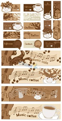 Coffee banner vector material download