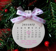 I'm a year late, poor third baby. baby's first christmas ornament Baby ornament by rachelwalter