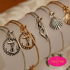 Beach themed Alex and Ani - I need the shell!!!