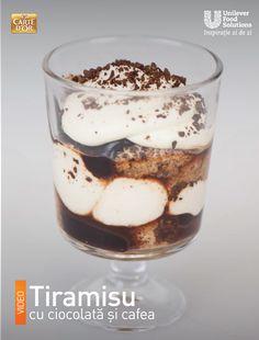 TIRAMISU CU CIOCOLATA SI CAFEA Tiramisu, Pudding, Ethnic Recipes, Desserts, Food, Tailgate Desserts, Deserts, Eten, Puddings