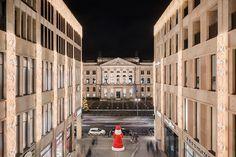 Berlin 2016 Mall of Berlin und Bundesrat bei Nacht