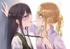 Citrus Yuri, Mei x Yuzu Anime Girlxgirl, Anime Kawaii, Anime Love, Manga Yuri, Yuri Anime, Citrus Yuri, Anime Bisou, Citrus Anime, Manga Romance