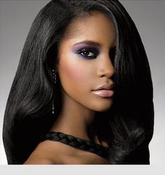 makeup and nails on african  american women   hairstyles for african american women with long hair - Bing   http ...