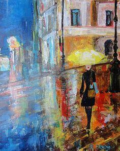 ArtDia / Večerná prechádzka Painting, Art, Art Background, Painting Art, Kunst, Paintings, Performing Arts, Painted Canvas, Drawings