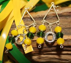 Oregon Ducks Jewelry.  Earrings from the Quack Collection.