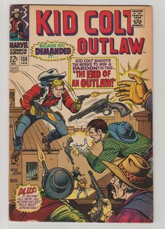 Kid Colt Outlaw; Vol 1, 138, Silver Age Comic Book. VG/FN. January 1968. Marvel Comics #kidcoltoutlaw #silveragecomics #comicsforsale